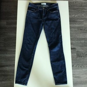 dark wash skinny jeans from Madewell